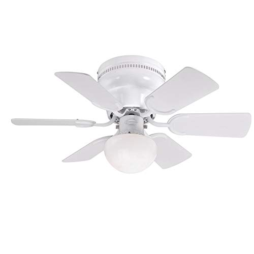 Westinghouse Lighting 7230800 Petite Indoor Ceiling Fan with Light, 30 Inch, White
