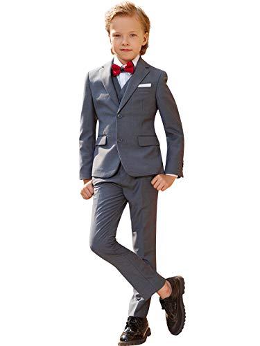 ELPA ELPA Graue Anzug Jungen Smoking Anzug Kinder Kostüme dünne Klage Formelle Kleidung, Grau, 7