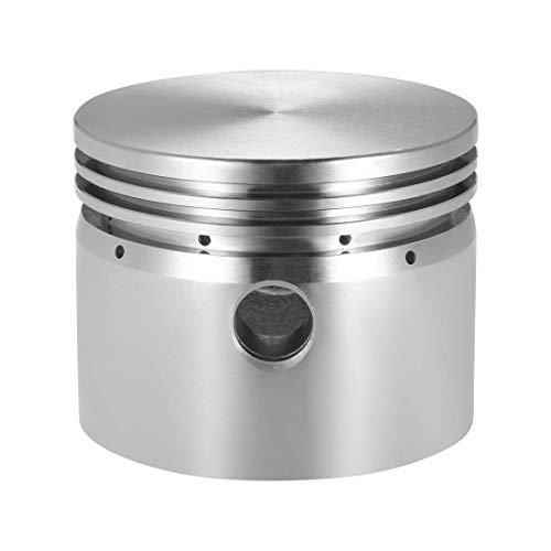 Sustitución de 80 x 63 mm de compresor de aire de aleación de aluminio de tono plateado.