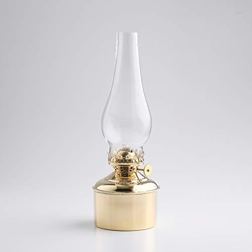 真鍮製 4分芯オイルランプ ST−TD−PB 真鍮磨きボディ(金)透明ガラスTD 4分芯(12mm)テ-ブルランプ ハ-バリウムランプ ランタン OI