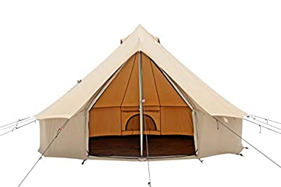 WHITEDUCK Regatta Canvas Bell Tent - Waterproof, 4 Season Luxury Outdoor Camping and Glamping Tent Made from Premium & Breathable 100% Cotton Canvas w/Stove Jack (13ft (4M), Water Repellent)