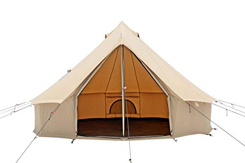 WHITEDUCK Regatta Canvas Bell Tent - Waterproof, 4 Season Luxury Outdoor Camping and Glamping Tent...
