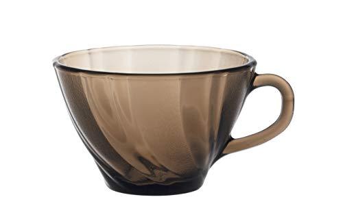 Duralex Beau Rivage 4002CR06C0111 - Set di 6 tazze da caffè in vetro, 180 ml, colore: Marrone