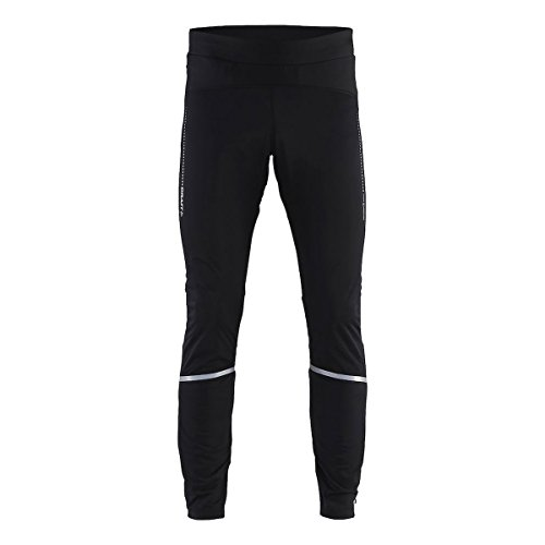 Craft Men's Essential Run and Train T Reflective Windproof Winter Pants,  Black,  Large