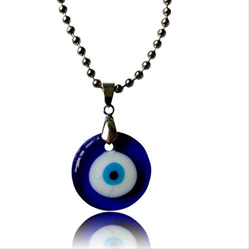 Revilium Protección del Mal Turco Amuleto Protección De Ojos Collar Ojos Azules Vidrio Lucky Charm Colgante Collar Unisex Joyería