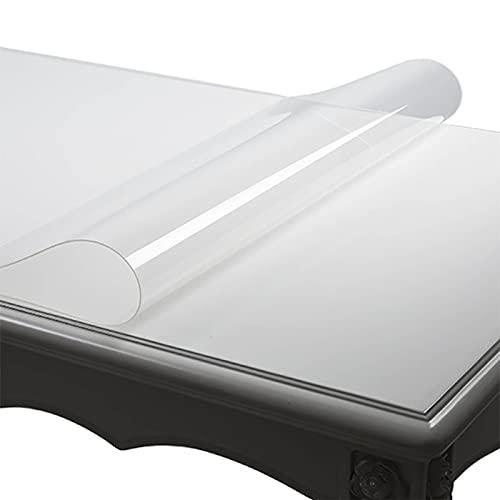 HXZ Tovaglia in PVC, tovaglietta Trasparente, Piano del Tavolo Impermeabile, Resistente al Calore, Utilizzabile in Sala da Pranzo, Soggiorno, caffetteria