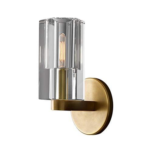 WRMOP wandlamp eenvoudige kristal koper kunst woonkamer slaapkamer nacht achtergrond muur badkamerspiegel voorste lamp gang trap R/20/01/03