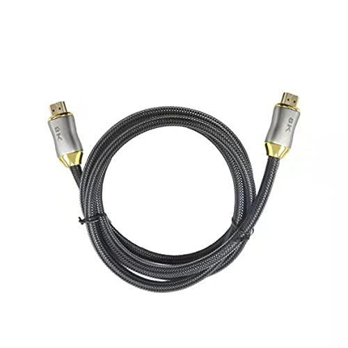 Yixikejiyouxian-A Cable de Alta definición Compatible con HDMI Versión 2.1 8K 60Hz Cable de conexión de monitorización de TV Compatible con HDMI 2.1 - Negro 1m