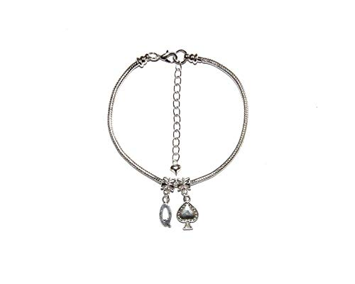 Queen Of Spades Euro Anklet Hotwife Ankle Chain Bracelet Style 5 - Sexy Jewels
