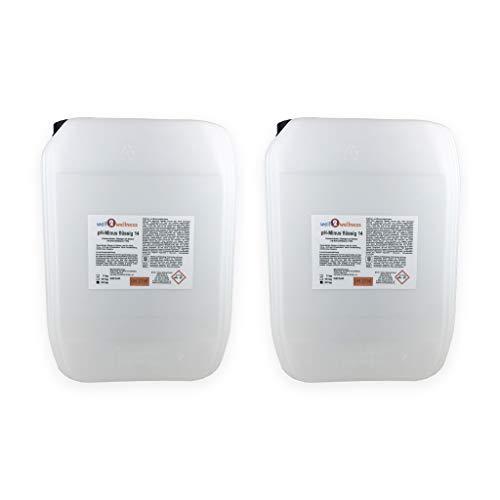 well2wellness Pool pH Minus flüssig 14 / pH Senker flüssig - 2 x 22 kg Kanister