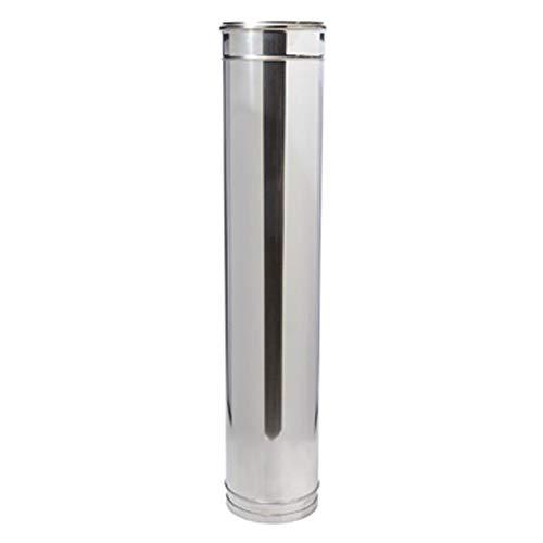 DW Complete Längenelement 1000mm 130mm Durchmesser 25mm Dämmung Ofenrohr Rauchrohr Kaminrohr Doppelwandig Edelstahlschornstein Isoliert gedämmt