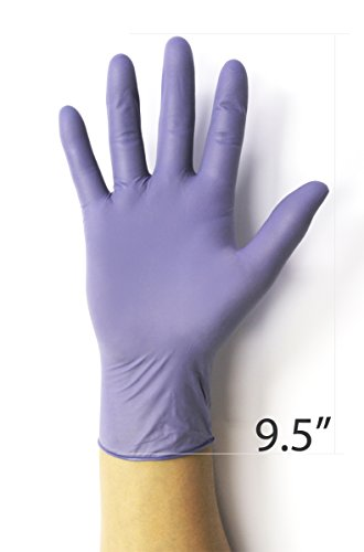 Nitrile Gloves, Infi-Touch Steel Blue Hypoallergenic 6 Mill Thickness, Disposable Gloves, Powder Free, Non Sterile, Ambidextrous, Finger Tip Textured, Dispenser Pack of 100, Size. X-Large.