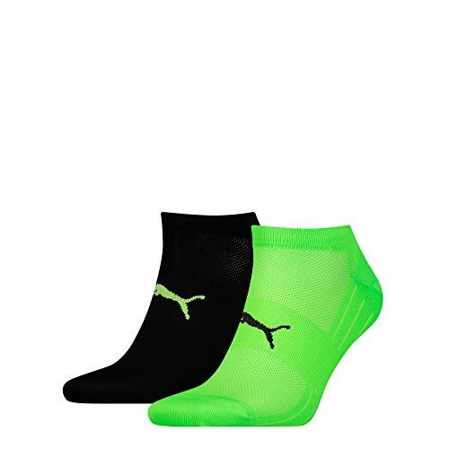 PUMA Herren PERFORMANCE TRAIN LIGHT SNEAKER 2P Socken, green/Black, 43-46 (2er Pack)