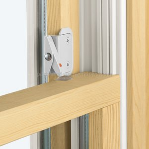 Double-Hung Window Opening Control Device, White Color with Bonus Install Kit