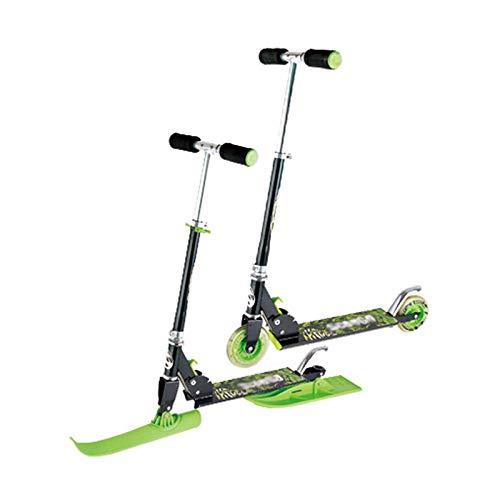SHDT Patinete De Esquí 2 En 1 para Jóvenes, Patinetas De Trineo para Niños Y Niñas, Bicicletas De Equilibrio Plegables, Patineta De 2 Modos Y Trineos Compatibles con Deslizamiento De Nieve