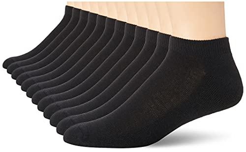 Hanes Men's Active Cool 12-Pack No Show Socks, black-Shoe Size: 6-12