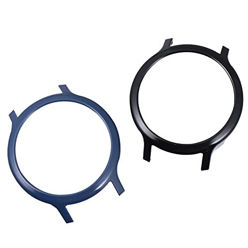 ibasenice 2 Piezas Reloj Protector de Pantalla Reloj Inteligente Funda de Cobertura Completa Redondo Anti- Rasguño Transparente TPU Película Cubierta Compatible para Rrealme S Azul/