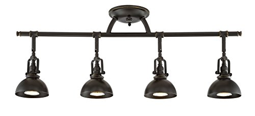 Kira Home Broadway 30 4-Light Industrial Directional Track Wall/Ceiling Light, Bronze Finish
