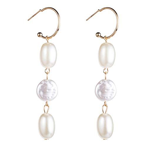 Vvff Pendientes Colgantes De Borla Larga De Perlas Simuladas Acrílicas Elegantes Para Mujer Pendientes Colgantes Joyería De Boda