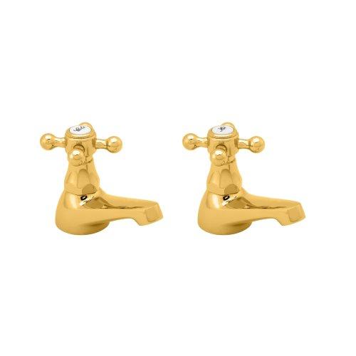"""Deva TUD01/501 -""""Tudor"""" Grifo de lavabo dorado"""