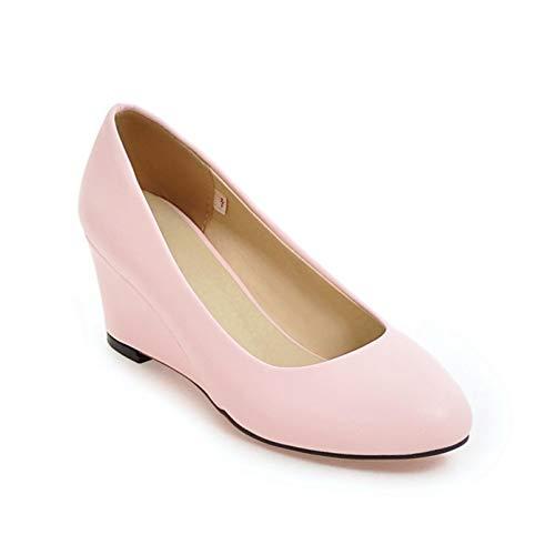 Zapatos de Mujer Tacón de cuña Moda Sólido Primavera Verano Deslizamiento en Uso Diario Estilo Universitario Zapatos Gruesos Ligeros Boca Baja