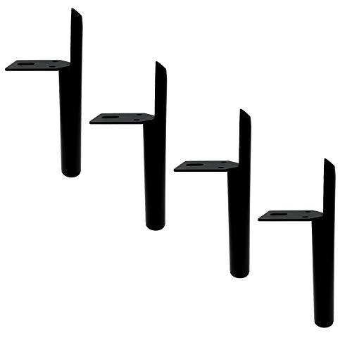 4 Stück Ersatz Möbelfüße,Eisen Möbelbeine,Metall Möbelfuss,Sofa Stützbeine,Schrankfüße,Couchtisch Beine,TV Schranker,Möbel Stützbeine,Rutschfester Schutzboden,mit Schrauben(black180mm/7.1in)