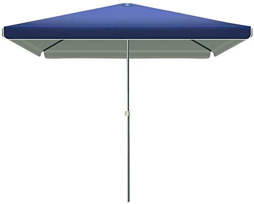 2.2 * 2.8M Sombreado Jardín Sol Refugio Rectangular Parasol Paraguas Offset Cantilever Impermeable Resistente a los Rayos UV para Exteriores/Jardines/Balcón/Patio Toldo Sombrilla Azul-Azul ITE