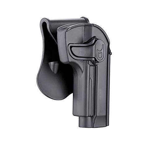 OWB Paddle Holster for Beretta 92, Beretta 92FS, GSG92, Taurus PT92, Girsan Regard MC, Open Duty Belt Carry Holster, Tactical Gun Holster, 360° Adjustable & Fast Release – Right Handed
