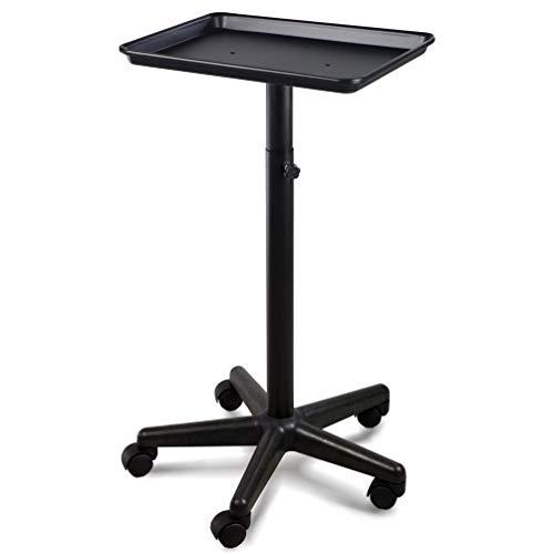 Price comparison product image Premium Aluminum Instrument Salon Tray Tattoo Rolling Tray Station-Black
