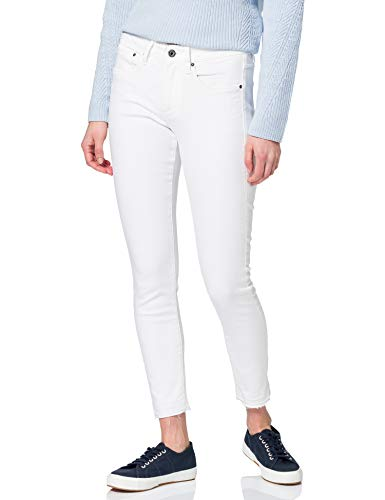 G-STAR RAW Womens 3301 Mid Waist Skinny Ripped Ankle Jeans, White C267-110, 28W / 32L