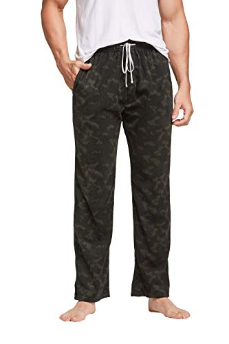 CYZ Men's Fleece Pajama Pant, Camouflage, Mens Size: Large