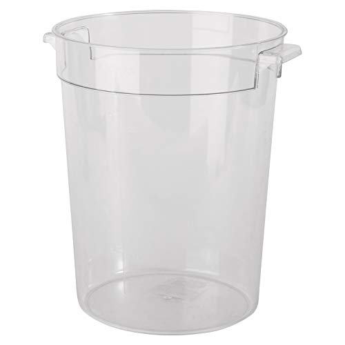 Update International SCR-12PC Round Storage Container, 12 Quart, Plastic