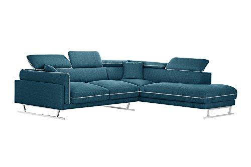 Canapé d'angle 6 places Tissu