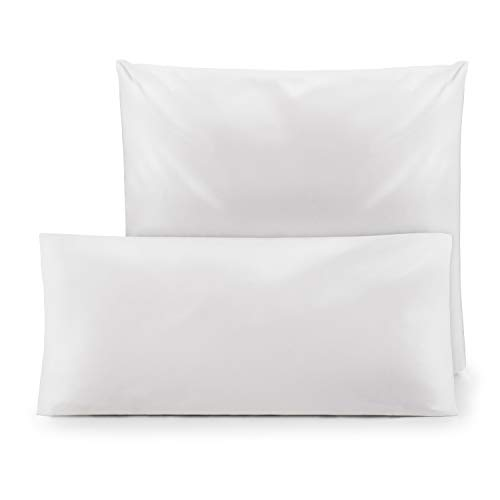Blumtal 2er-Set Kopfkissen Milbenbezug für Allergiker - Kissenbezug Milbenschutz Encasing, waschbar, 40 x 80 cm