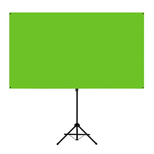 Valera Explorer 90 Inch Portable Green Screen for Streaming and Videos - Mounts on Tripod and Wall | Only 8 lbs | 2 min Setup | 16:9 Format | ChromaBoost Fabric with High Vibrancy for Low Lighting