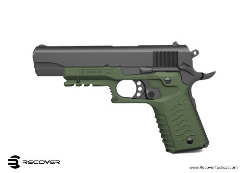 Recover CC3 H 1911 Grip & Rail System, Olive Drab, Universal