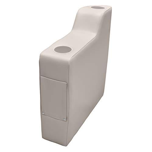 Wise 3010-990 Pontoon 7' Right Radius Arm Rest, Platinum Pontoon 7' Right Radius Arm Rest