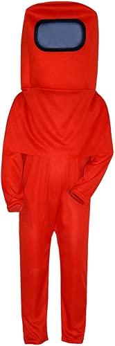 HNZNCY Disfraz de cosplay con máscara de mochila para niños astronauta espacial mono conjunto para Halloween fiesta de Navidad (F,L)