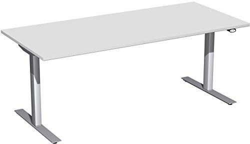 Preisvergleich Produktbild Geramöbel Elektro-Hubtisch höhenverstellbar,  1800x800x680-1160,  Lichtgrau / Silber
