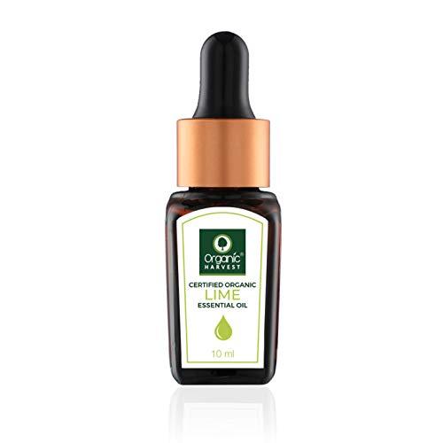 Organic Harvest Huile essentielle de citron vert Usda, Onecert, certifiée biologique, 100% pure, non diluée, qualité thérapeutique, excellente pour l'aromathérapie, 1/3 fl. Oz / 10 Ml