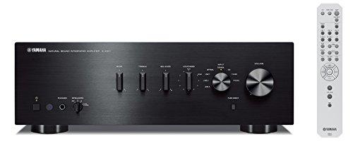 Yamaha AS-301 - Amplificador integrado estéreo de 95 W por canal, negro