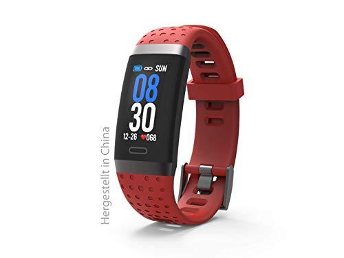 swisstone SW 380 HR Bluetooth Fitnesstracker, Herzfrequenzmessung, HR, 4 Sport Modi, Schlaftracking, Wasserfest (IP67), rot