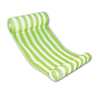 Bureze 14 colores plegable hamaca de agua de malla inflable flotador de piscina colchón de aire playa cama juguetes salón tumbado baño silla boia