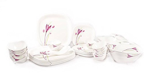 MILTON LILAC TULIP SQUARE DINNER SET 31 PIECES