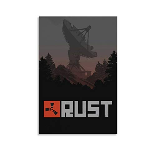 HYSSS Action Adventure Games Poster Rust ACT Doomsday Survival 3D Online Creation Canvas Art Poster and Wall Art Picture Print Modern Family Bedroom Decor Posters 08x12inch(20x30cm)
