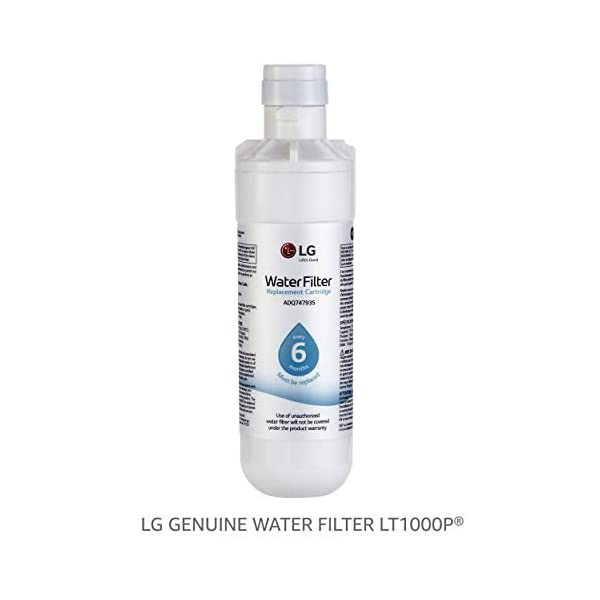 LG LT1000P – 6 Month / 200 Gallon Capacity Replacement Refrigerator Water Filter (NSF42, NSF53, and NSF401 ADQ74793501, ADQ75795105, or AGF80300704