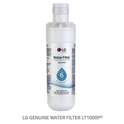 LG LT1000P Refrigerator Water Filter, 1 pack, white