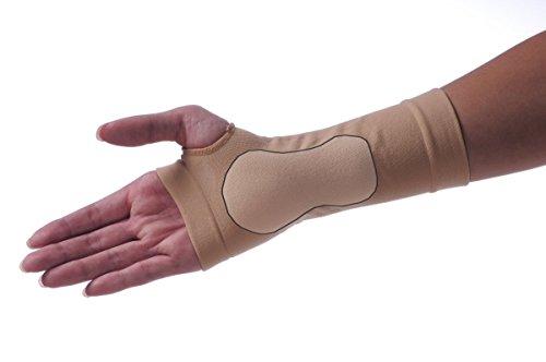 Karpaltunnel-Bandage/Manschette mit Gel-Pad von axion. Schont und stützt das Handgelenk - Größe L, links