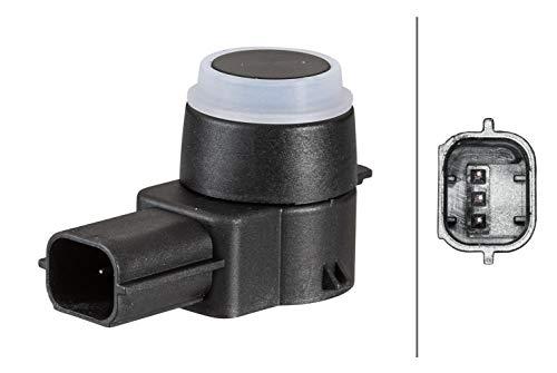 HELLA 6PX 358 141-231 Sensor, Einparkhilfe - gerade - 3-polig - gesteckt - lackierbar