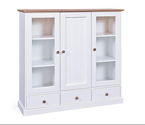 Esidra East Lansing Buffet, Bois, 120 x 131 x 39 cm, Blanc